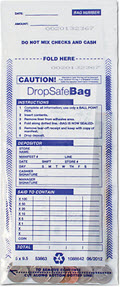 Clear Drop Safe Style Money Handling Bag