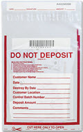 Do Not Deposit Money Handling Bag