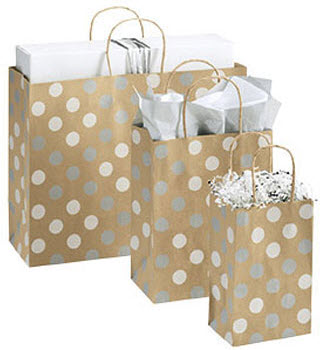 EGP Silver and White Dots Shoppers Collection